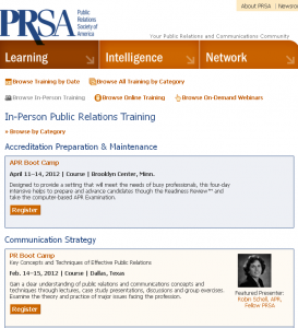 In Person Public Relations Training Seminars