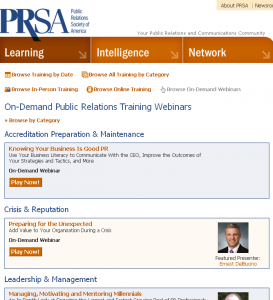 On Demand Public Relations Training Webinars
