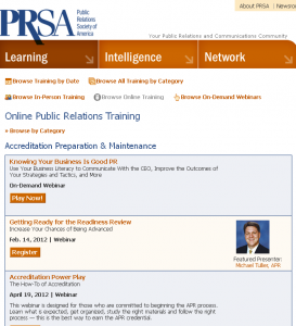 Online Public Relations Training Webinars