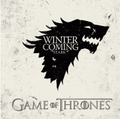 """Winter Is Coming"" promotional poster, HBO Game of Thrones"