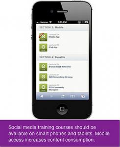Linkedin Training for Business - Mobile App Screenshot