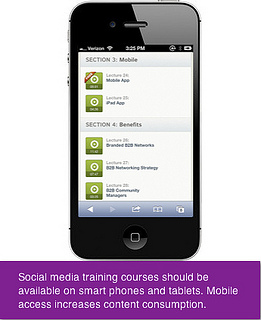 Linkedin Training for Business - Mobile App Screenshot