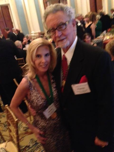Marisa Vallbona, APR, Fellow PRSA with Dr. Frank Walsh, APR, Fellow PRSA taken at the most recent College of Fellows induction ceremony.
