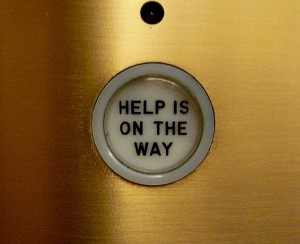 Elevator button photo