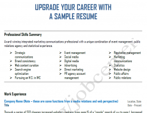 upgrade your career and resume with integrated marketing