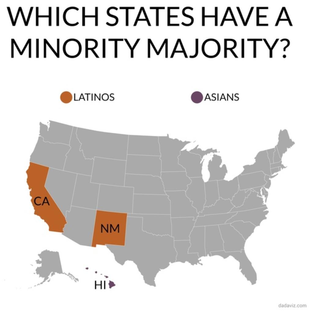 Minority Majority states