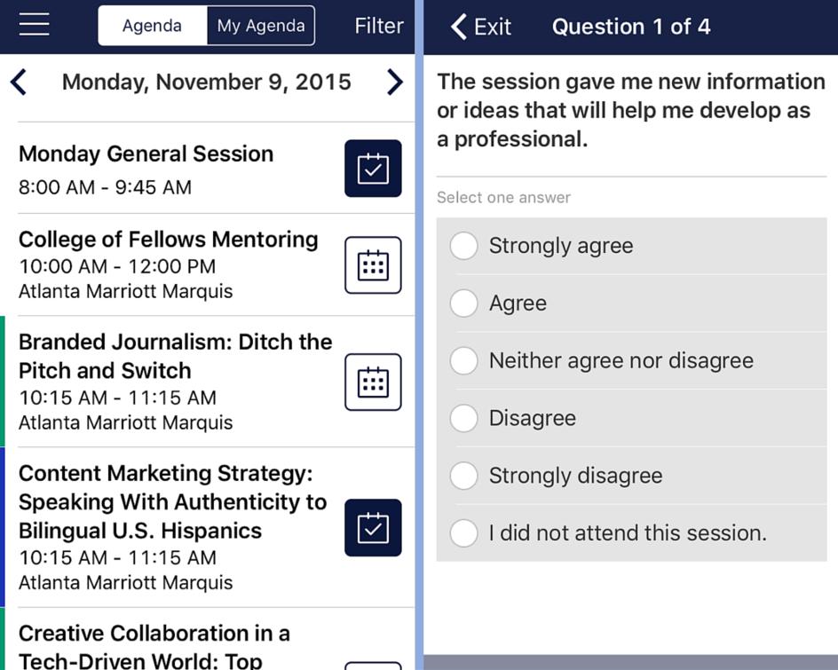 2015 ICON App Screenshot