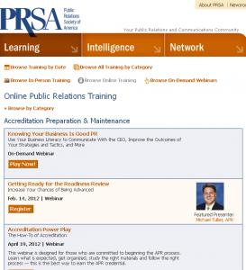 Online Public Relations Training Webinars