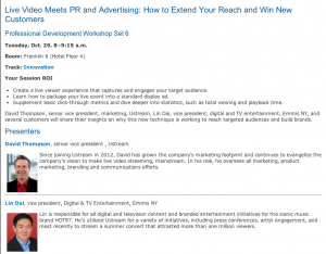 Live Video Meets Public Relations and Advertising: How to Extend Your Reach and Win New Customers
