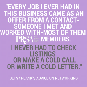 Betsy Plank on networking with PRSA