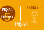 PRSA Friday Five banner