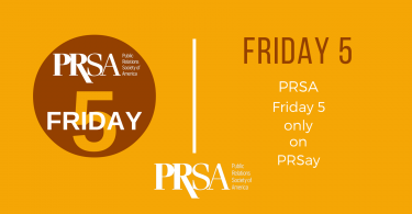 PRSA Friday Five banner