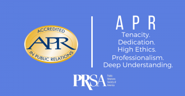 Accreditation in PR Banner image